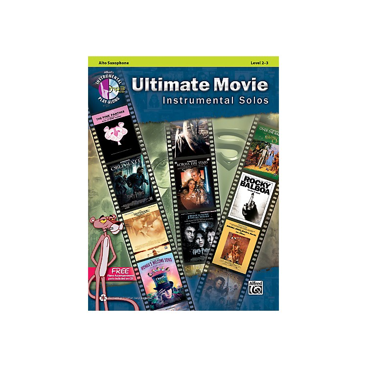 Alfred Ultimate Movie Instrumental Solos for Alto Sax Book & CD