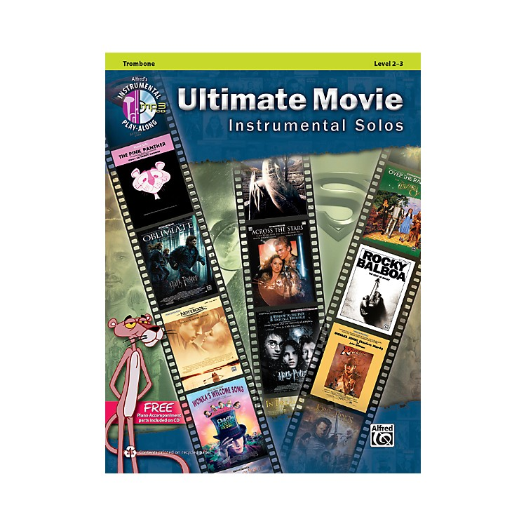 Alfred Ultimate Movie Instrumental Solos for Trombone Book & CD