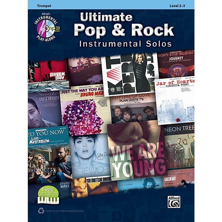 Alfred Ultimate Pop & Rock Instrumental Solos Trumpet (Book/CD)