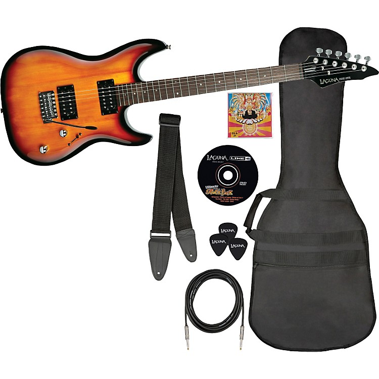 Laguna Ultimate Rock Electric Guitar and Accessory Pack Gloss Sunburst