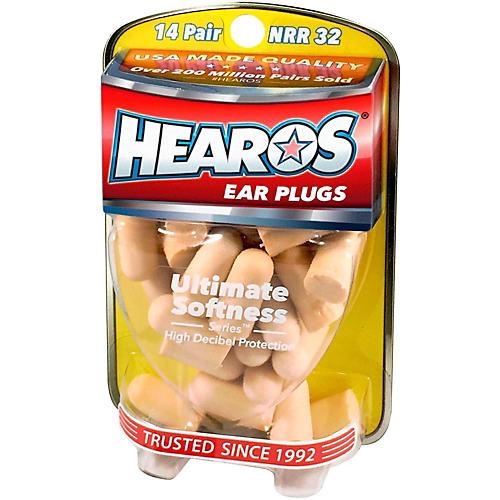 Hearos Ultimate Softness Series Ear Plugs 14 Pair + Free Case