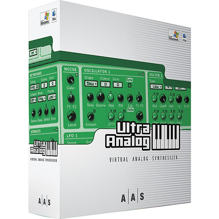 AASUltra Analog - Virtual Analog Synthesizer Software