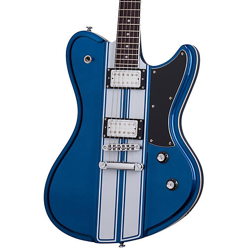Schecter Guitar Research Ultra GT Electric Guitar Metallic Blue with White Stripe