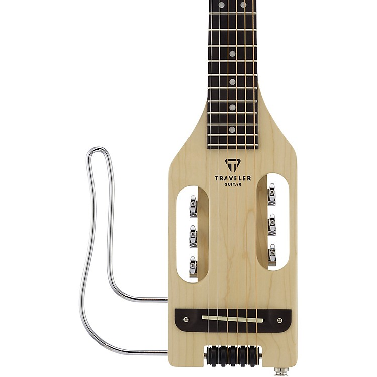 Traveler Guitar Ultra-Light Acoustic-Electric Travel Guitar Left-Handed Natural