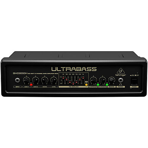 Behringer Ultrabass 300 Watt 2-Channel 7-Band FBQ Equalizer Bass Amplifier Head-thumbnail