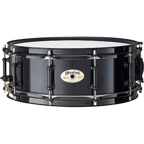 Pearl Ultracast Cast Aluminum Snare Drum Black 14 x 5 in.
