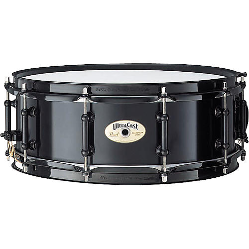 Pearl Ultracast Cast Aluminum Snare Drum Black 5X14 Inches
