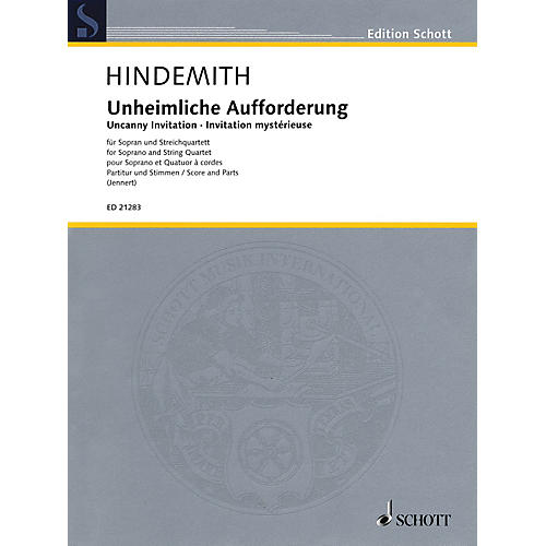Schott Uncanny Invitation Schott Series Composed by Paul Hindemith Edited by Rüdiger Jennert-thumbnail
