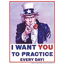 SCHAUM Uncle Sam Poster (I Want You to Practice Every Day) Educational Piano Series Softcover