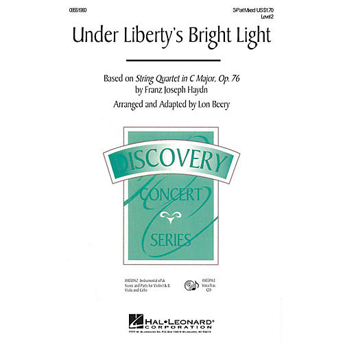 Hal Leonard Under Liberty's Bright Light VoiceTrax CD Arranged by Lon Beery-thumbnail