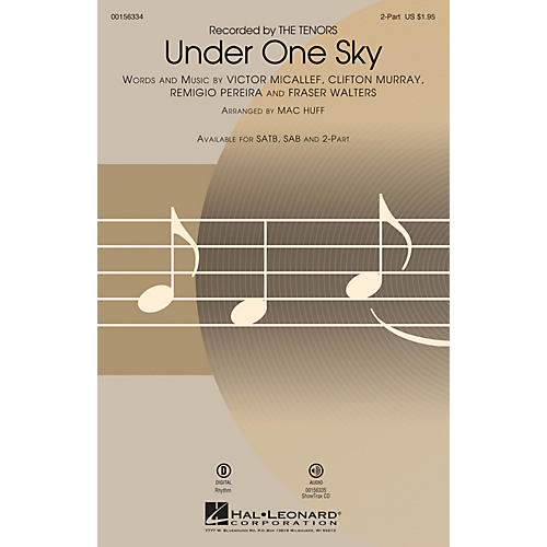 Hal Leonard Under One Sky 2-Part by The Tenors arranged by Mac Huff-thumbnail