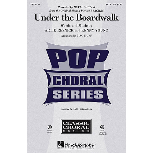 Hal Leonard Under the Boardwalk SAB by Bette Midler Arranged by Mac Huff-thumbnail