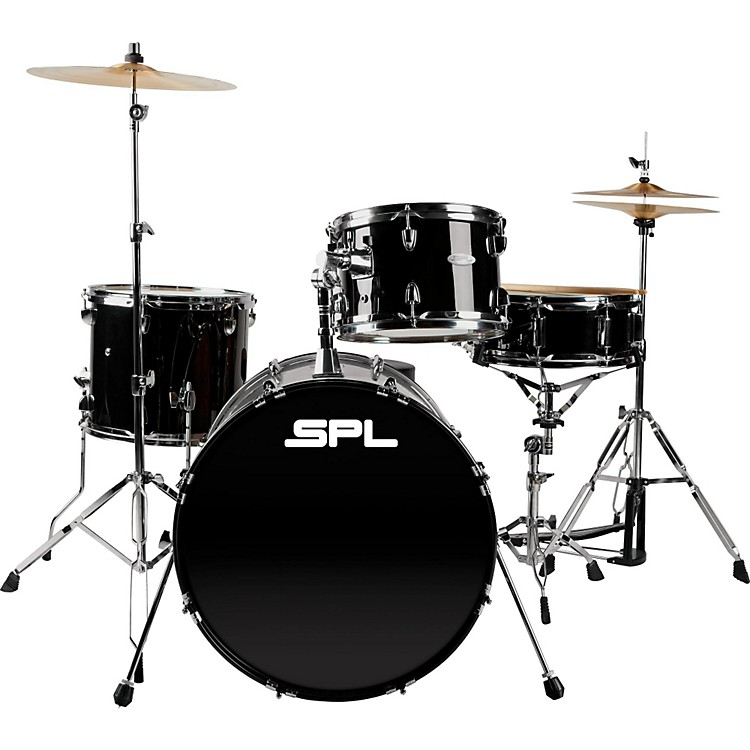 sound percussion labs unity 4 piece drum set with hardware black musician 39 s friend. Black Bedroom Furniture Sets. Home Design Ideas