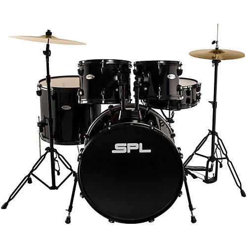 Sound Percussion Labs Unity 5-Piece Drum Set with Hardware, Cymbals and Throne Black