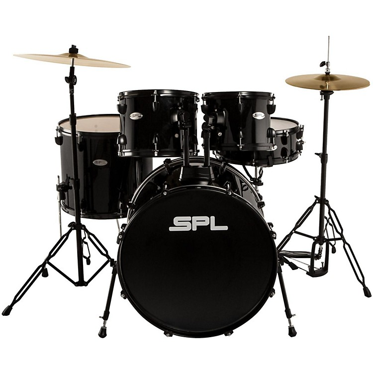 sound percussion labs unity 5 piece drum set with hardware cymbals and throne black musician. Black Bedroom Furniture Sets. Home Design Ideas