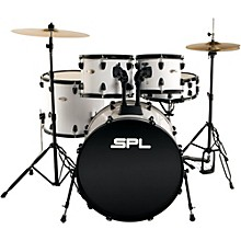 Sound Percussion Labs Unity 5-Piece Drum Set with Hardware, Cymbals and Throne White