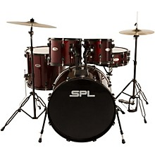 Sound Percussion Labs Unity 5-Piece Drum Set with Hardware, Cymbals and Throne Wine Red