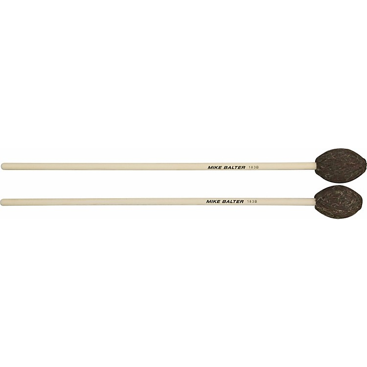 Mike Balter Universal Series Birch Handle Marimba Mallets Brown Yarn Med - Med Hard