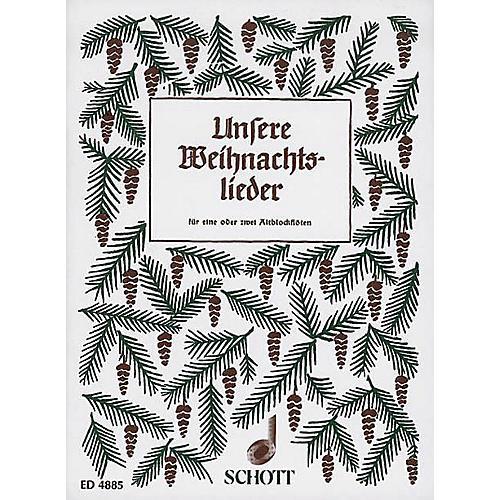 Schott Unsere Weihnachtslieder (Performance Score) Schott Series Arranged by Hans Hilsdorf-thumbnail