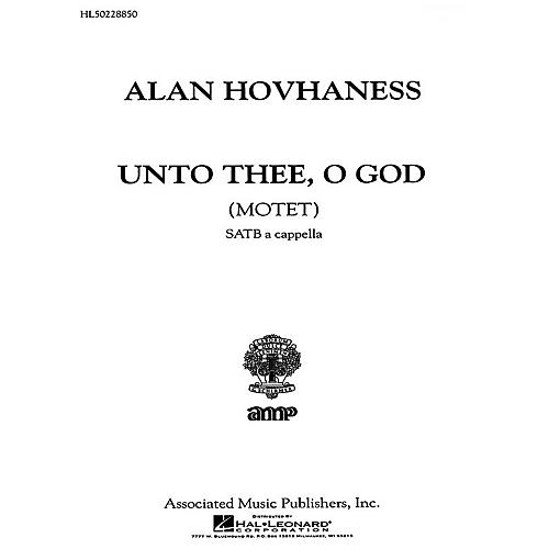 Associated Unto Thee O God  Motet A Cappella SATB composed by A Hovhaness-thumbnail