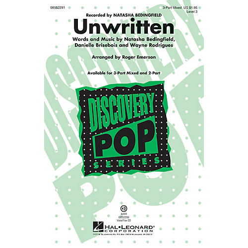 Hal Leonard Unwritten (Discovery Level 3) VoiceTrax CD by Natasha Bedingfield Arranged by Roger Emerson-thumbnail