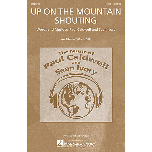 Caldwell/Ivory Up on the Mountain Shouting SAB composed by Paul Caldwell-thumbnail
