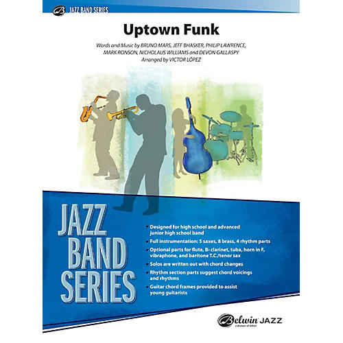 Alfred Uptown Funk Jazz Band Grade 3