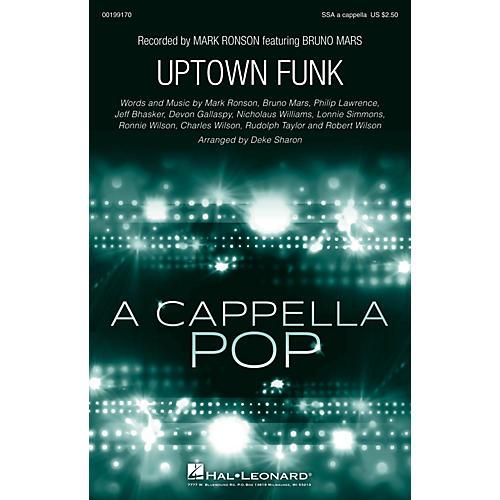 Hal Leonard Uptown Funk SSA A Cappella by Bruno Mars arranged by Deke Sharon-thumbnail