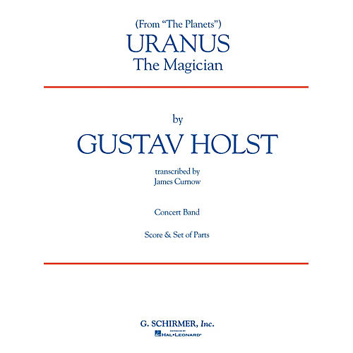 G. Schirmer Uranus (Full Score) Concert Band Level 4-5 Composed by Gustav Holst