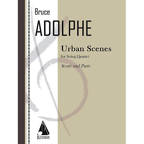 Lauren Keiser Music Publishing Urban Scenes (String Quartet) LKM Music Series Composed by Bruce Adolphe-thumbnail