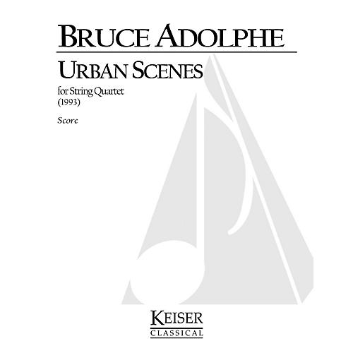 Lauren Keiser Music Publishing Urban Scenes (for String Quartet) LKM Music Series Composed by Bruce Adolphe-thumbnail