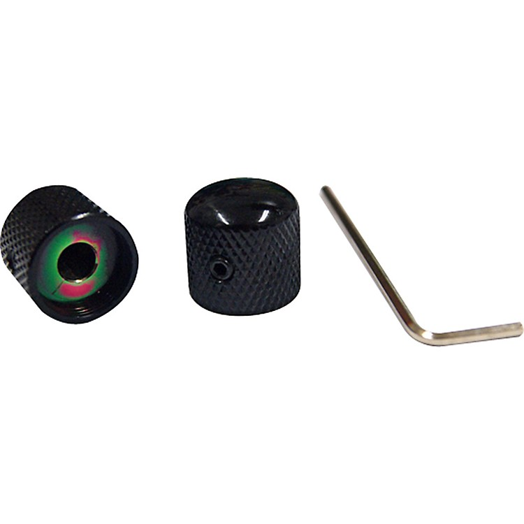 ProLine Us Tele-Style Dome Knob 2 Pack Black