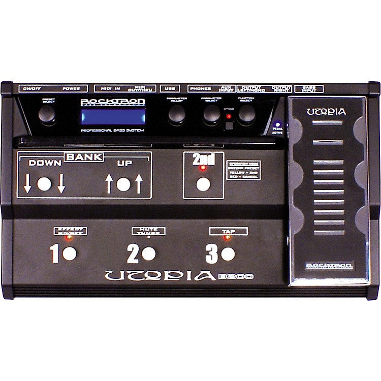 Rocktron Utopia B200 Bass Floor Multi Effects Pedal Black