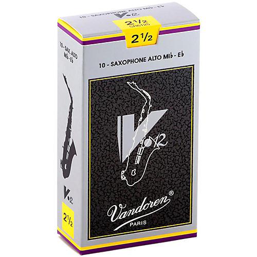 Vandoren V12 Alto Saxophone Reeds Strength 2.5, Box of 10