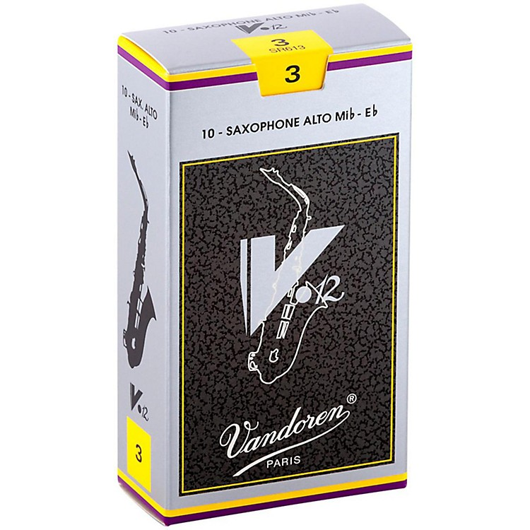 Vandoren V12 Alto Saxophone Reeds Strength 2.5, Box of 10