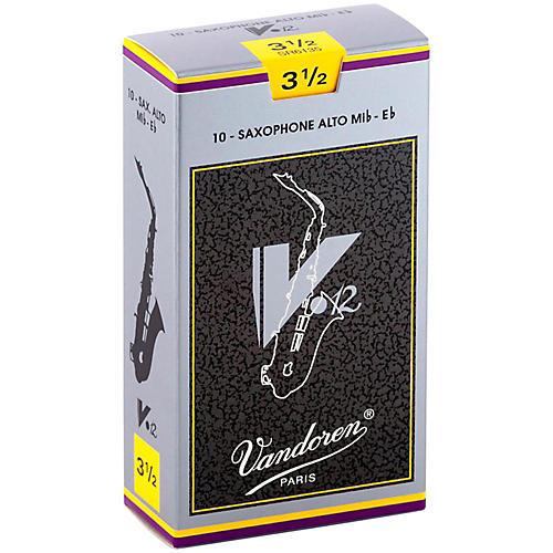 Vandoren V12 Alto Saxophone Reeds Strength 3.5, Box of 10