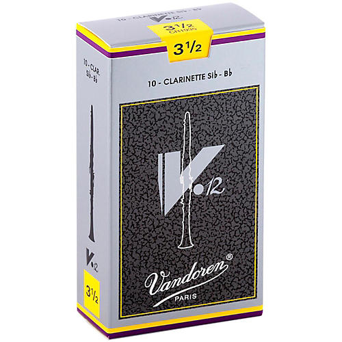 Vandoren V12 Bb Clarinet Reeds Strength 3.5 Box of 10