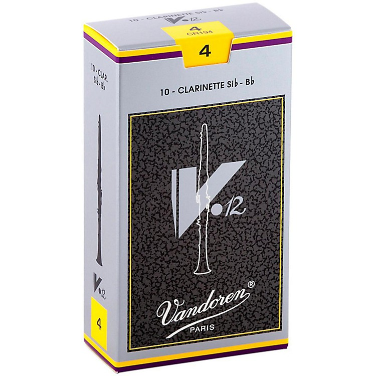 Vandoren V12 Bb Clarinet Reeds Strength 4 Box of 10