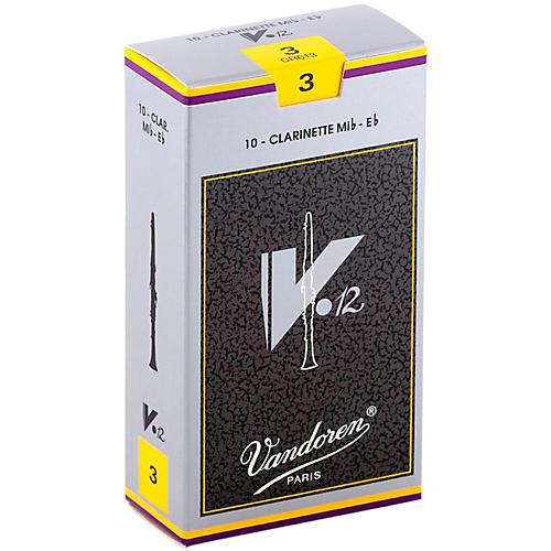Vandoren V12 Series Eb Clarinet Reeds Strength 3, Box of 10
