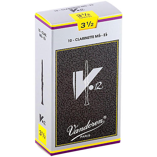 Vandoren V12 Series Eb Clarinet Reeds Strength 3.5, Box of 10