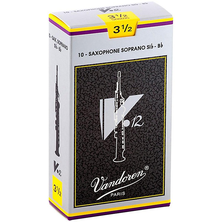 VandorenV12 Series Soprano Saxophone ReedsStrength 3.5, Box of 10