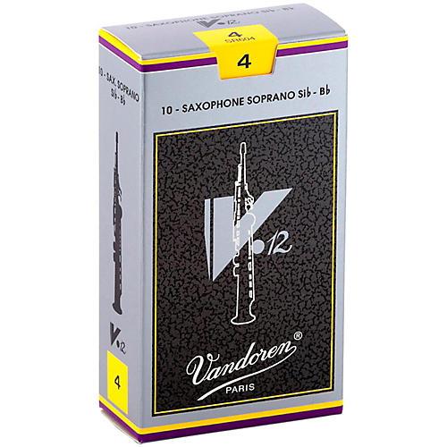 Vandoren V12 Series Soprano Saxophone Reeds Strength 4, Box of 10