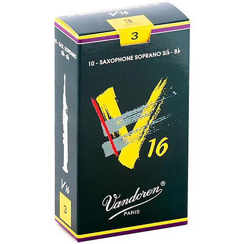 Vandoren V16 Soprano Saxophone Reeds Strength 3, Box of 10