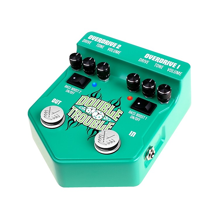 Visual SoundV2 Series V2DT Double Trouble Dual Overdrive Guitar Effects Pedal