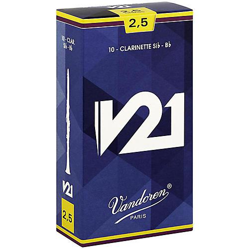 Vandoren V21 Bb Clarinet Reeds Strength 2.5 Box of 10
