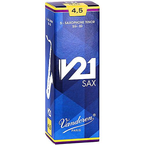 Vandoren V21 Tenor Saxophone Reeds, Box of 5 4.5
