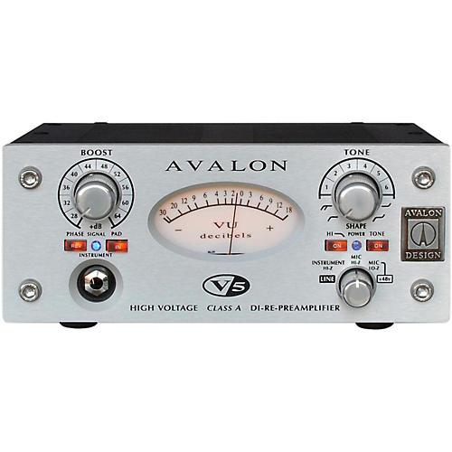 Avalon V5 Pure Class A Mono Mic-Line Pre-Re-Amp & DI