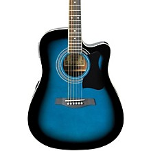 Ibanez V70CE Acoustic-Electric Guitar Transparent Blue