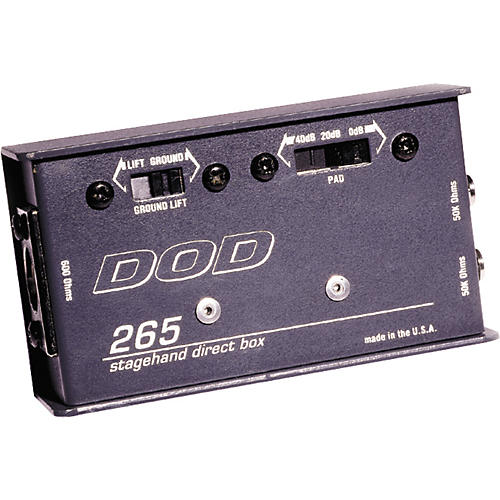 DOD VAC265 Stagehand Direct Box with Ground Lift