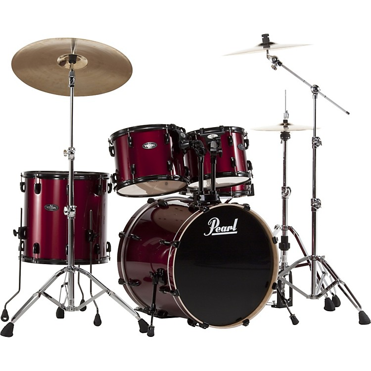 Pearl VB Vision Birch 5 Piece Shell Pack Red Wine with Black Hardware